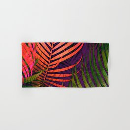 COLORFUL TROPICAL LEAVES no5 Hand & Bath Towel