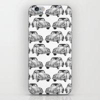 volkswagen iPhone & iPod Skins featuring Beetle Volkswagen by Michal Gorelick