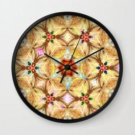 kaleidoscope - releitura de um jardim Wall Clock