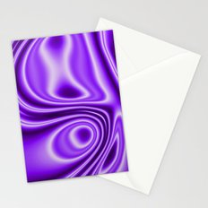Purple Silk Stationery Cards