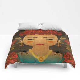 Mexican eyes Comforters