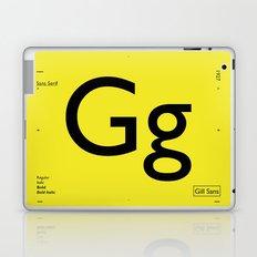 Gill Sans Laptop & iPad Skin
