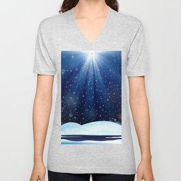 A Starry Winter's Night Unisex V-Neck