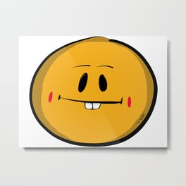 Buck Tooth Smiley Metal Print