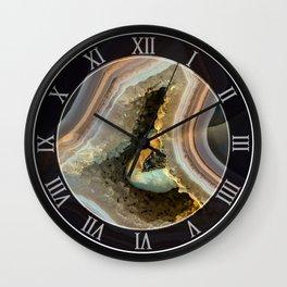 Patterns of agate gem Wall Clock