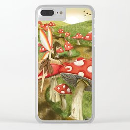 Toadstool Painting Clear iPhone Case