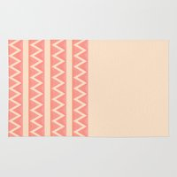 peach Area & Throw Rugs featuring Peach by Lyle Hatch