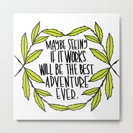Maybe seeing if it works will be the best adventure Metal Print