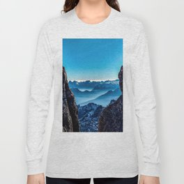 Moutain sky ice blue Long Sleeve T-shirt