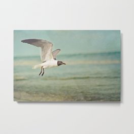 """""""The Seagull see farthest who flies highest."""" --Proverbs quote Metal Print"""