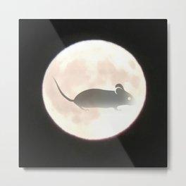 Mouse Moon Metal Print