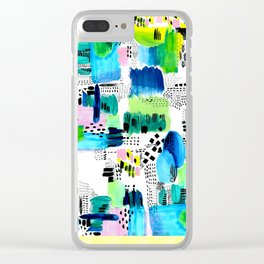 Playful Collage Clear iPhone Case
