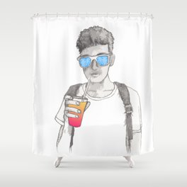 Summer boy Shower Curtain