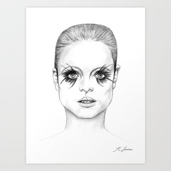Bright Eyed Girl Art Print