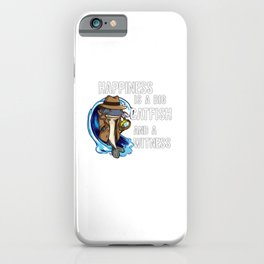 Hapiness is a big Catfish and a Witness Private Investigator   iPhone Case