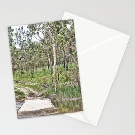 Rustic water crossing Stationery Cards