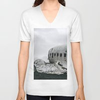 dc V-neck T-shirts featuring DC-3 by Alex Tonetti Photography