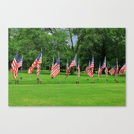 Flags Flying in Memoriam Canvas Print