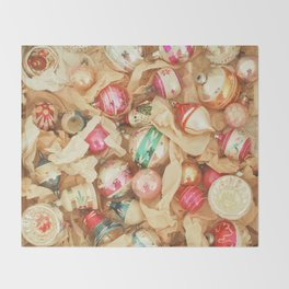 Box of Baubles Throw Blanket