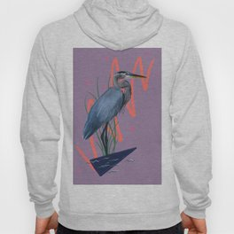 Great blue on the Bayou Hoody