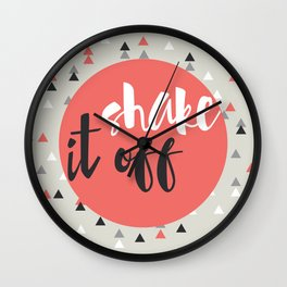 shake it off red Wall Clock