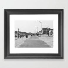 Manasquan Boardwalk Framed Art Print