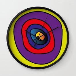 chaos of live,  movement of life, life circle, colorful, hartbeat Wall Clock