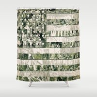 usa Shower Curtains featuring USA by Bekim ART