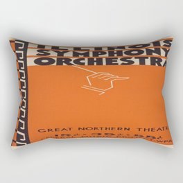 Vintage poster - Illinois Symphony Orchestra Rectangular Pillow