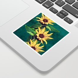 Watercolor sunflowers Sticker