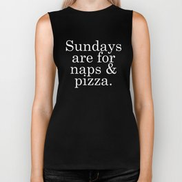 Sundays are for Naps & Pizza Biker Tank