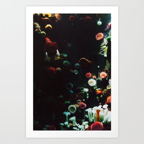 UNDERWATER ANEMONE Art Print