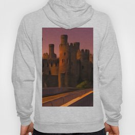 Conway (Conwy) Castle (Digital Art) Hoody