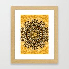 Starburst Mandala Framed Art Print