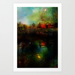 Country atmosphere Art Print