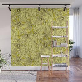 deadly nightshade chartreuse Wall Mural