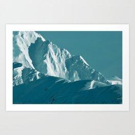 Alaskan Mts. I, Bathed in Teal Art Print