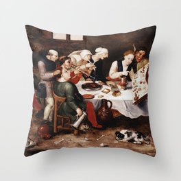 Hieronymus Bosch - The Bacchus Singers Throw Pillow