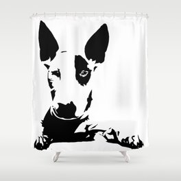 BULL TERRIER GIFTS Shower Curtain