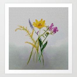 SERIES JASMIN WATERCOLOR FLOWERS Art Print