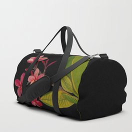 Plumeria Rubra Mary Delany Floral Paper Collage Delicate Vintage Flowers Duffle Bag