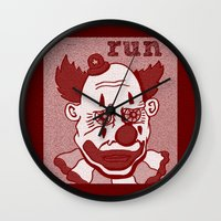 run Wall Clocks featuring Run... by Adam Metzner