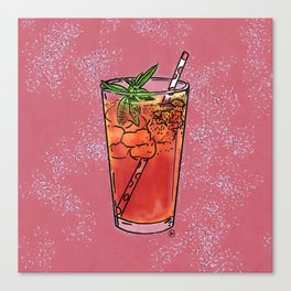 THERE'S ALWAYS TIME FOR ICE TEA! - PINK Canvas Print