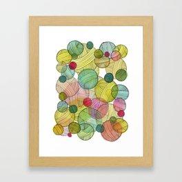 Yarn Stash Framed Art Print
