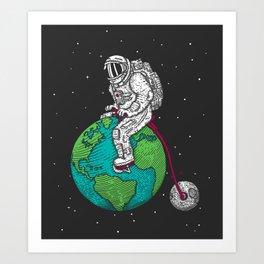 Ride the world Art Print