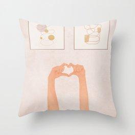 Hand Heart Throw Pillow