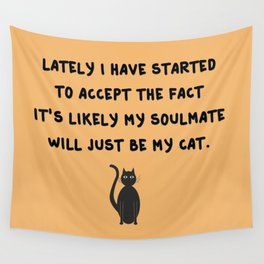 Cat Soulmate Wall Tapestry