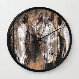 Pure Horses Wall Clock