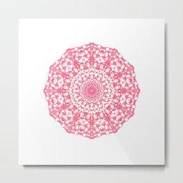 Mandala 12 / 4 eden spirit ruby red Metal Print