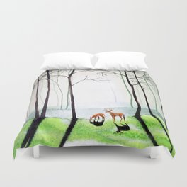 Forest Routine Duvet Cover